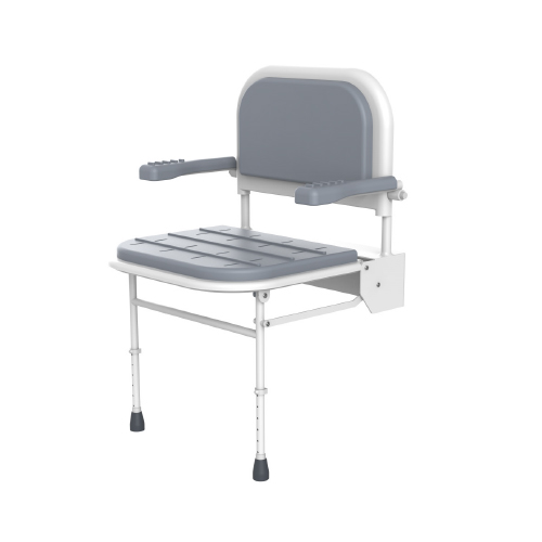 iCare-Shower-Chair-Grey-side